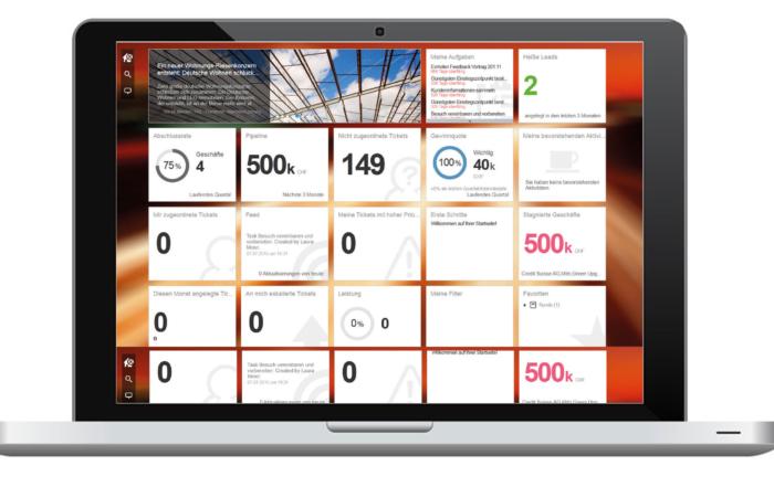 SAP Hybris Cloud for Customer CRM Anwendung für Sales-Dashboard